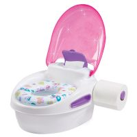 Summer - Olita Multifunctionala 3 in 1 Potty Training System roz