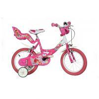 Dino Bikes - Bicicleta copii cu roti ajutatoare Winx 14 inch