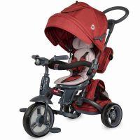 Coccolle - Tricicleta cu scaun rotativ Modi rosu
