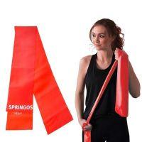 Banda elastica fitness/pilates Springos, rezistenta 4-6 kg, rosu