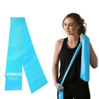 Banda elastica fitness/pilates Springos, rezistenta 3-4 kg, albastru