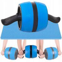 Roata pentru abdomene cu sistem de retractare Springos, include covoras genunchi