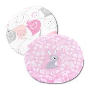 Set 2 pernute anticolici cu samburi de cirese Kidizi Bunny & Elephants Pink, roz, 19 cm
