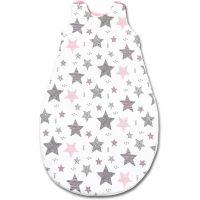 Sac de dormit copii 0-18 luni Kidizi All Pink Stars, 2,5 tog