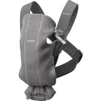 BabyBjorn - Marsupiu ergonomic Mini 0-2 ani  Dark Grey 3D Jersey