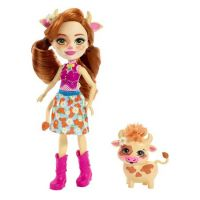 Mattel Set papusa Cailey Cow Enchantimals si figurina Curdle