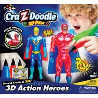 Cra Z Art - Set creatie 3D Action Heroes