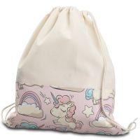 Saculet gradinita tip rucsac Kidizi Pink Unicorn, 38x34 cm