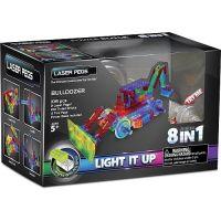 Laser Pegs - Kit Constructie cu Lumini Laser 8 in 1 - Buldozer