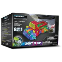 Laser Pegs - Kit Constructie cu Lumini Laser 8 in 1 - Camion
