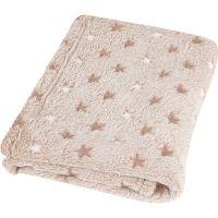 BabyMatex - Paturica pufoasa 100x75 cm Milly Gold Stars