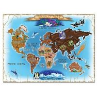 Melissa&Doug - Puzzle harta lumii 500 piese / World Map