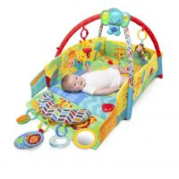 Bright Starts - Salteluta de joaca 5 in 1 Sunny Safari Babys Play Place