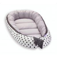 Cosulet bebelus pentru dormit Jukki Baby Nest Cocoon XL 90x50 cm Peas