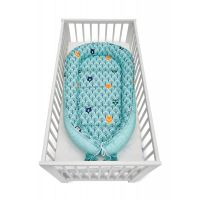 Cosulet bebelus pentru dormit Jukki Baby Nest Cocoon  XXL 120x65 cm Mint forest