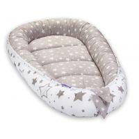 Cosulet bebelus pentru dormit Jukki Baby Nest Cocoon XL 90x50 cm Beige stars