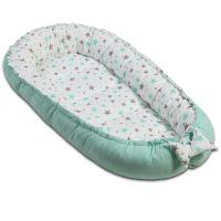 Cosulet bebelus pentru dormit Kidizi Baby Nest Cocoon 90x50 cm Galaxy Mint
