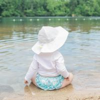 Iplay - Palarie soare copii 0-6 luni UPF50+ White
