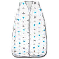 Sac dormit copii de vara din muselina Kidizi Blue Stars 90 cm