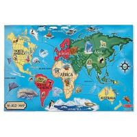 Melissa&Doug - Puzzle de podea Harta Lumii / World Map