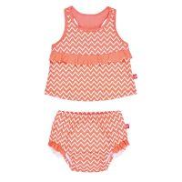 Costum de baie fete 12 luni cu scutec absorbant SPF50+ Zig Zag Lassig