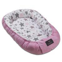 Cosulet bebelus pentru dormit Kidizi Baby Nest Cocoon XL 110x70 cm Pink Stars
