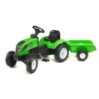 Falk - Tractor Garden master cu remorca verde