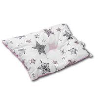 Perna bebelusi contra plagiocefaliei si pentru formarea corecta a capului Kidizi 30x25 cm Pink Stars