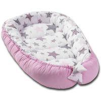 Cosulet bebelus pentru dormit Kidizi Baby Nest Cocoon XXL 110x70 cm Pink Stars