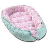 Cosulet bebelus pentru dormit Kidizi Baby Nest Cocoon 90x50 cm Sweet Bunny Mint