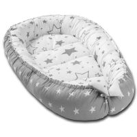 Cosulet bebelus pentru dormit Kidizi Baby Nest Cocoon 90x50 cm Galaxy Grey