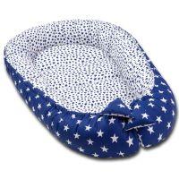 Cosulet bebelus pentru dormit Kidizi Baby Nest Cocoon 90x50 cm Dark Blue Stars