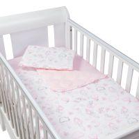 Set perna bebelus si plapumioara matlasata 100x75 cm Kidizi Fairy Clouds