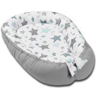 Cosulet bebelus pentru dormit Kidizi Baby Nest Cocoon 90x50 cm All Mint Stars