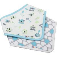 Set 2 bavete textile tip esarfa Akuku Lovely Owl