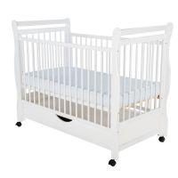 BabyNeeds - Patut din lemn Jas + sertar