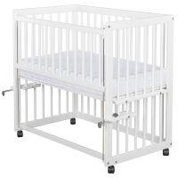 BabyNeeds - Patut pentru co-sleeping Dalia alb + saltea