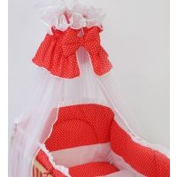 Bebe Design - Baldachin din voal pentru patut-Rosu