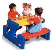Little Tike - Masa de picnic pentru 6 copii albastru