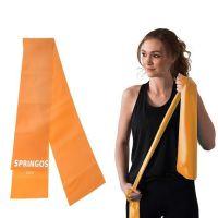 Banda elastica fitness/pilates Springos, intensitate mica 2-3 kg, portocalie