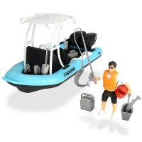 Barca de pescuit Playlife cu figurina si accesorii Dickie Toys