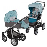 Carucior 2 in 1 Dotty Baby Design Turquoise