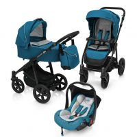 Carucior Multifunctional 3 in 1 Baby Design Lupo Comfort Turqouise