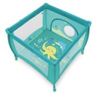 Tarc de joaca cu inele ajutatoare Play UP Baby Design Turqouise