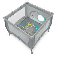 Baby Design - Tarc de joaca Play UP Gray cu inele ajutatoare