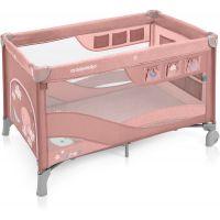 Patut Pliabil cu 2 nivele Baby Design Dream Regular Pink