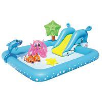Piscina copii cu stropitoare si tobogan Bestway Aquarium 53052 239 x 206 x 86 cm