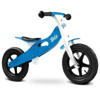 Caretero - Bicicleta de lemn fara pedale Velo Blue