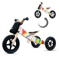 Bicicleta din lemn fara pedale 2 in 1 transformabila Sun Baby Twist Classic