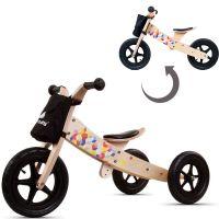 Bicicleta din lemn fara pedale 2 in 1 transformabila Twist Cubic